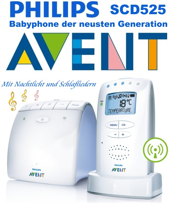 philips avent scd525 eco babyphone display schlaflieder. Black Bedroom Furniture Sets. Home Design Ideas