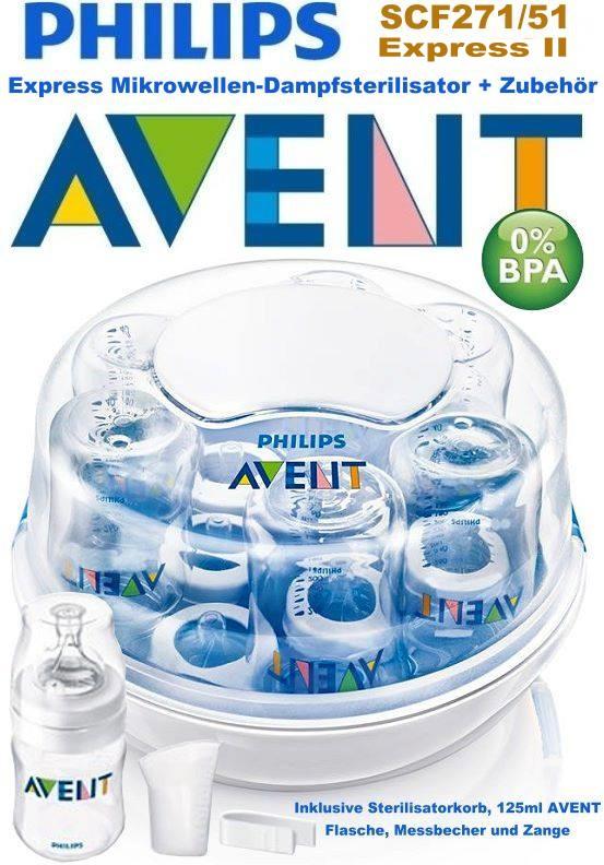 PHILIPS-AVENT-SCF271-51-Mikrowellen-Dampf-Sterilisator-Korb-Flasche-Zange-NEU