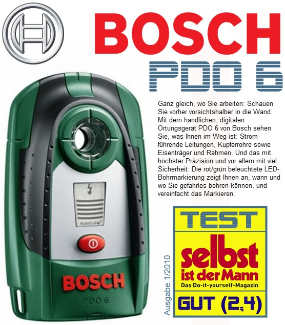 bosch pdo 6 digitales ortungsger t strompr fer ebay. Black Bedroom Furniture Sets. Home Design Ideas