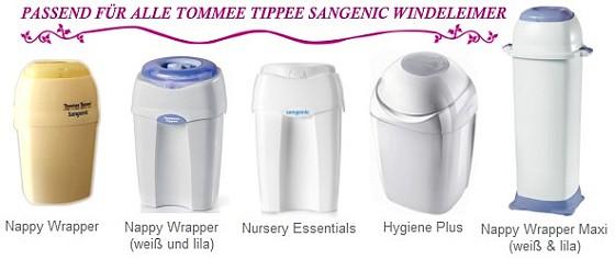 TOMMEE TIPPEE SANGENIC Nachfüllkassetten #6 STÜCK# für Windeltwister/Windeleimer