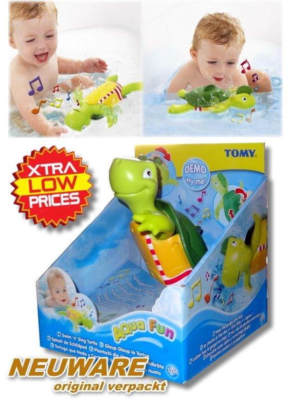 TOMY: Plantschi die Schildkröte (schwimmt & singt) Baby/Kinder Badespielzeug Neu