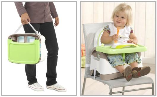 babymoov kompakte sitzerh hung mit tisch reise hochstuhl. Black Bedroom Furniture Sets. Home Design Ideas
