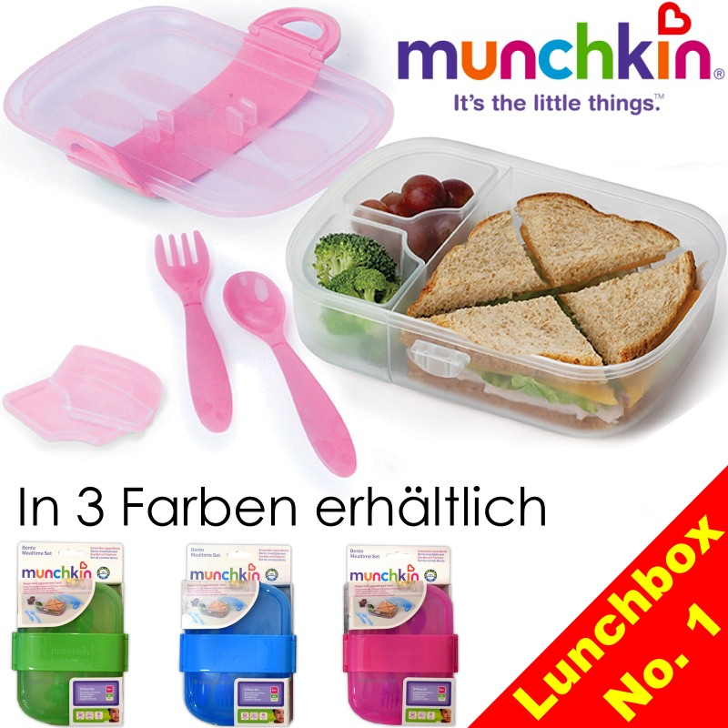 lunchbox set brotdose bento box f r kinder s er l we mit besteck 2 schalen ebay. Black Bedroom Furniture Sets. Home Design Ideas