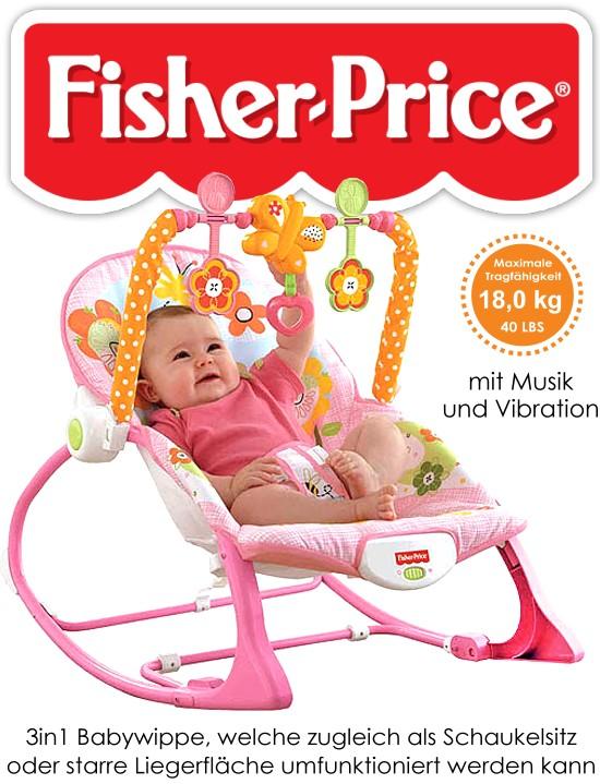 fisher price babyschaukel y4544 babywippe schaukelsitz tierwelt h schen rosa ebay. Black Bedroom Furniture Sets. Home Design Ideas