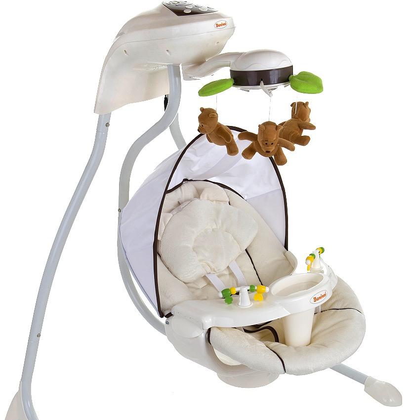 automatik babyschaukel baninni beige automatische elektrische baby wiege wippe ebay. Black Bedroom Furniture Sets. Home Design Ideas