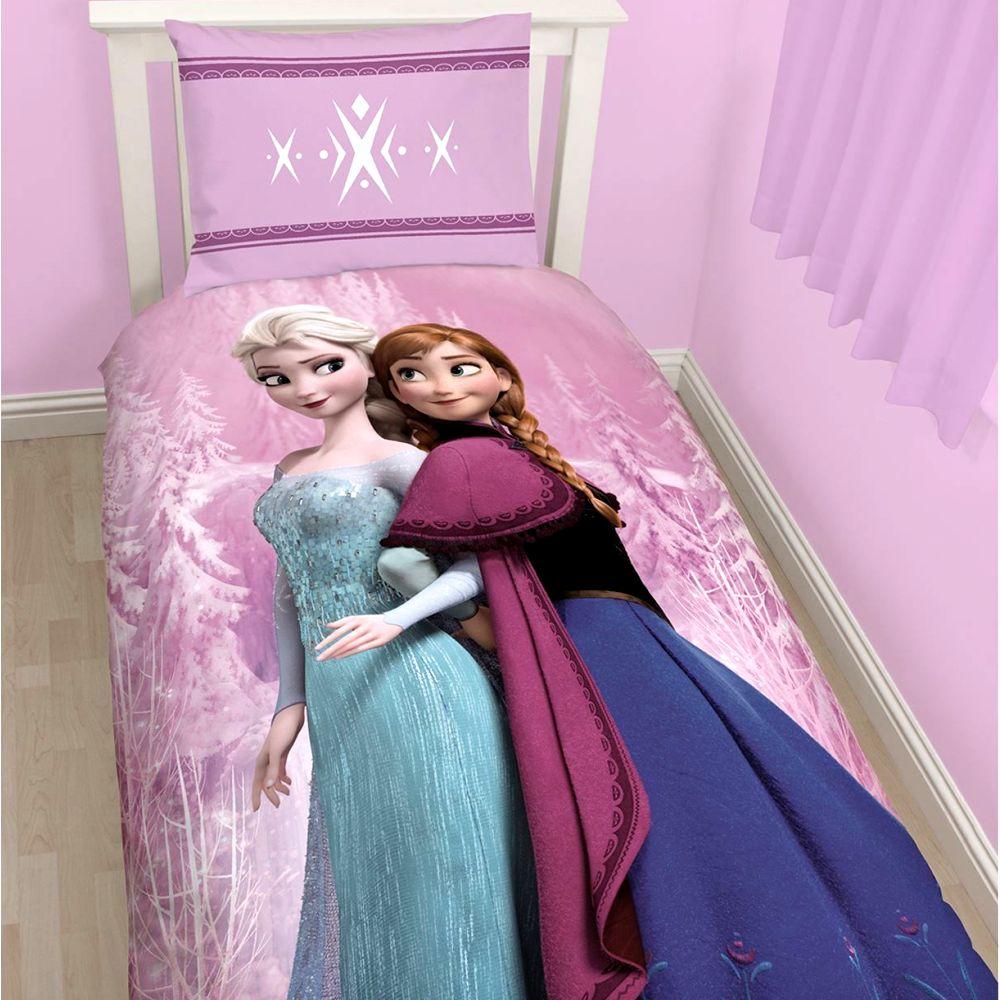 die eisk nigin kinder bettw sche baumwolle mix bettbezug kissenbezug elsa anna ebay. Black Bedroom Furniture Sets. Home Design Ideas