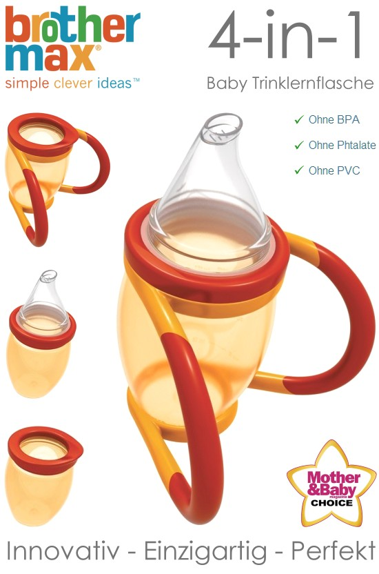 brother max 4in1 baby trinklernflasche trainer cup 170ml kinder flasche griff ebay. Black Bedroom Furniture Sets. Home Design Ideas
