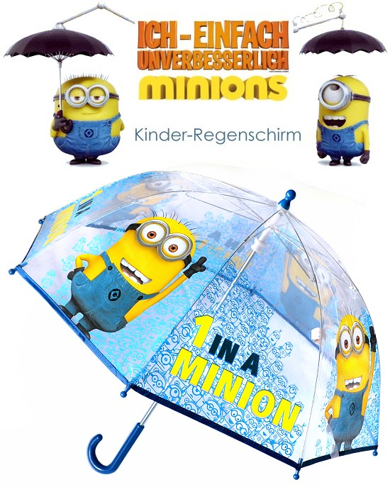 minions kinder regenschirm 1 in a minion transparent ich einfach unverbeserlich ebay. Black Bedroom Furniture Sets. Home Design Ideas