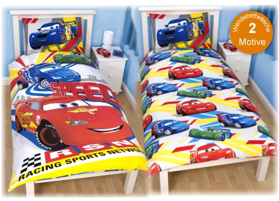 disney kinder bettw sche cars bettbezug 135x200 kissenbezug 48x74 jungen neu ebay. Black Bedroom Furniture Sets. Home Design Ideas
