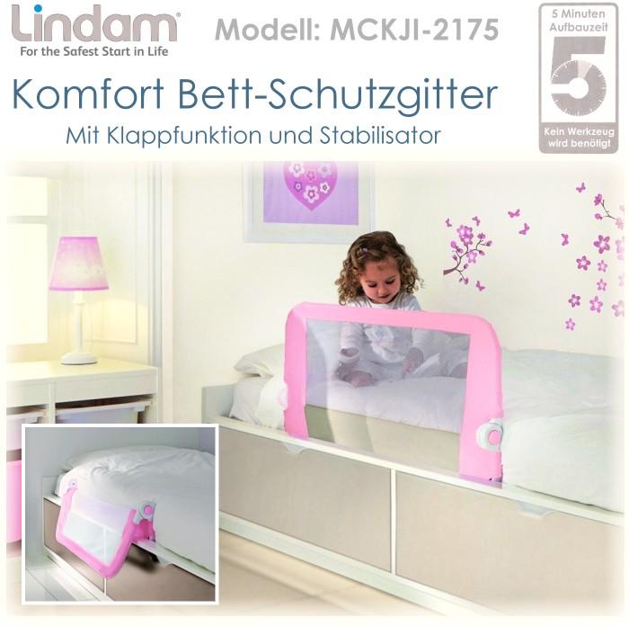 lindam schutzgitter bettrailing f r kinderbett 92cm rausfallschutz gitter rosa ebay. Black Bedroom Furniture Sets. Home Design Ideas