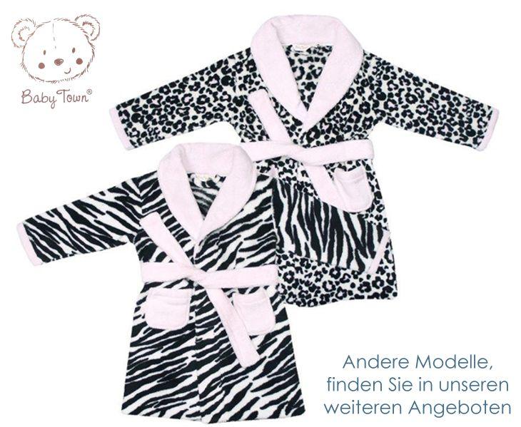 Baby town bademantel kuschelweich leopard design
