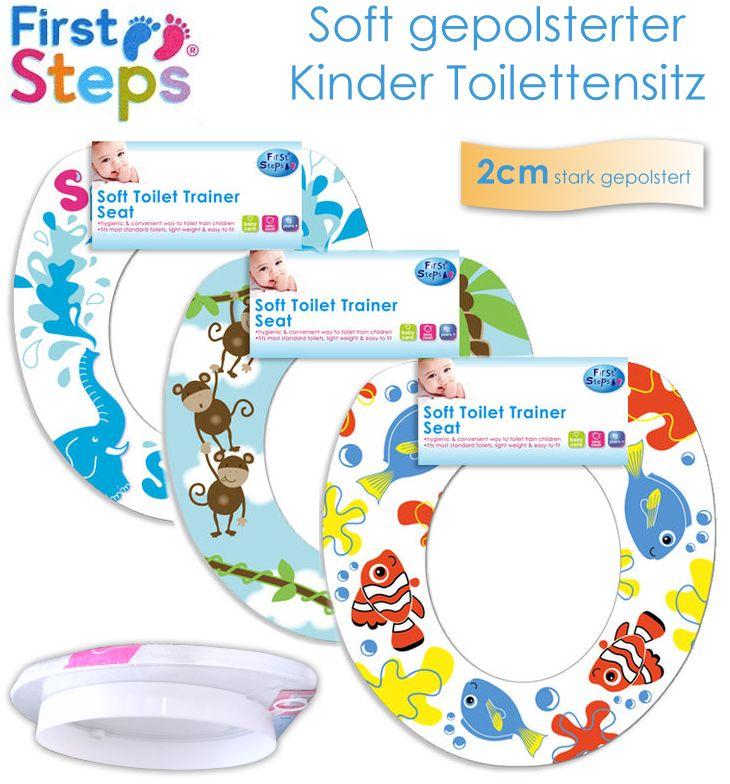 2cm gepolsterter kinder toilettensitz soft baby wc sitz. Black Bedroom Furniture Sets. Home Design Ideas