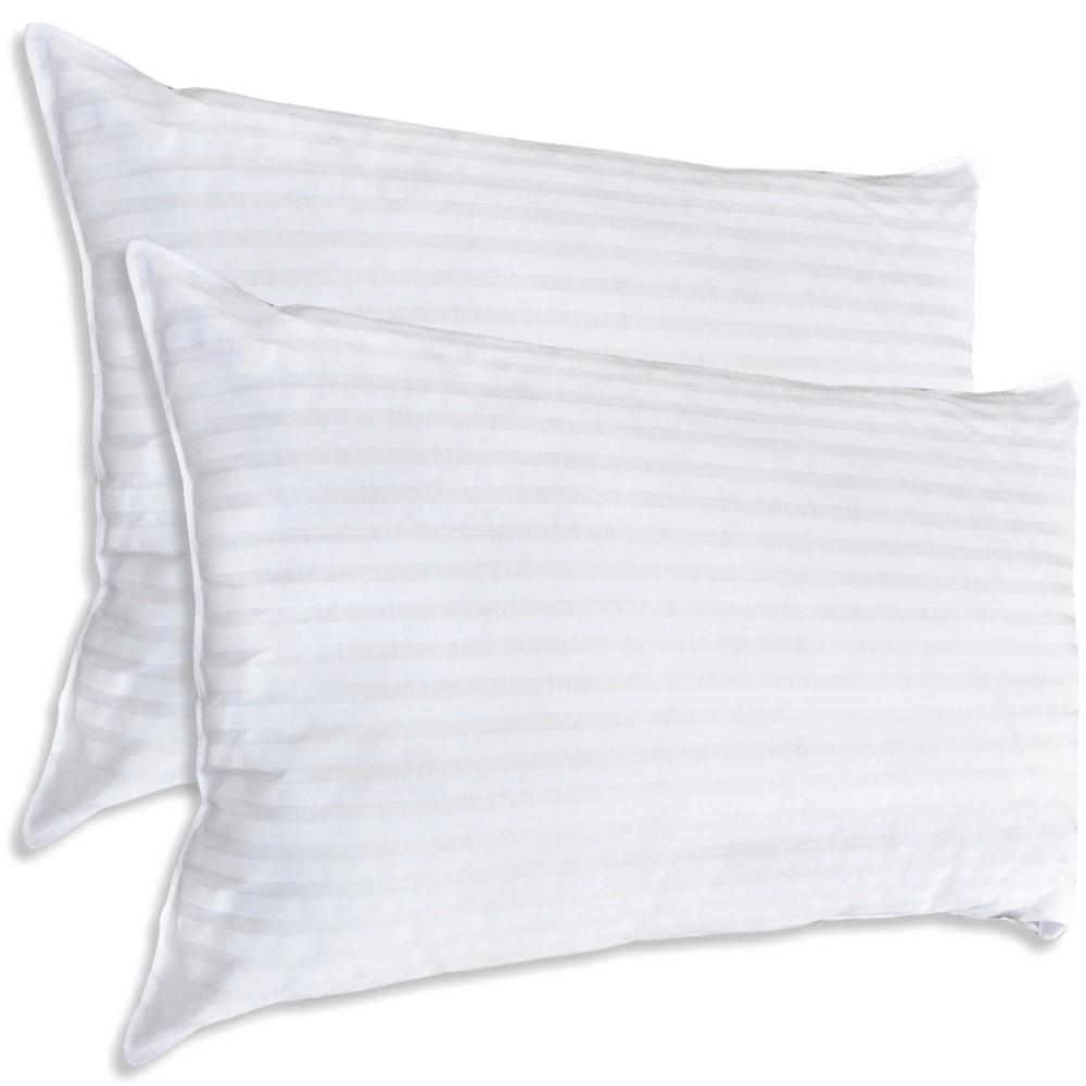 kopfkissen 48x74cm allergiefrei hohlfaser kissen gestreift einzel oder doppel ebay. Black Bedroom Furniture Sets. Home Design Ideas