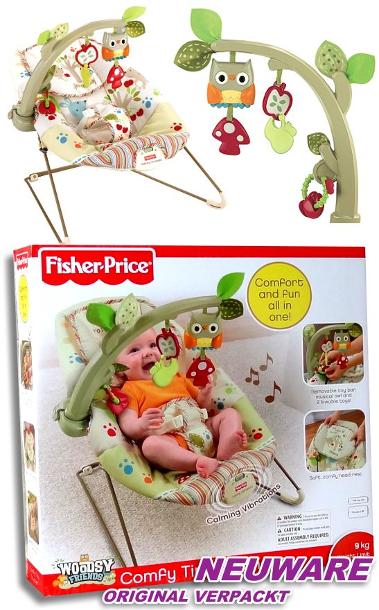 fisher price baby wippe vibration spielebogen spieluhr. Black Bedroom Furniture Sets. Home Design Ideas