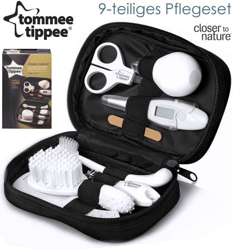 tommee tippee baby pflegeset 9tlg etui digital thermometer b rste nasensekret ebay. Black Bedroom Furniture Sets. Home Design Ideas