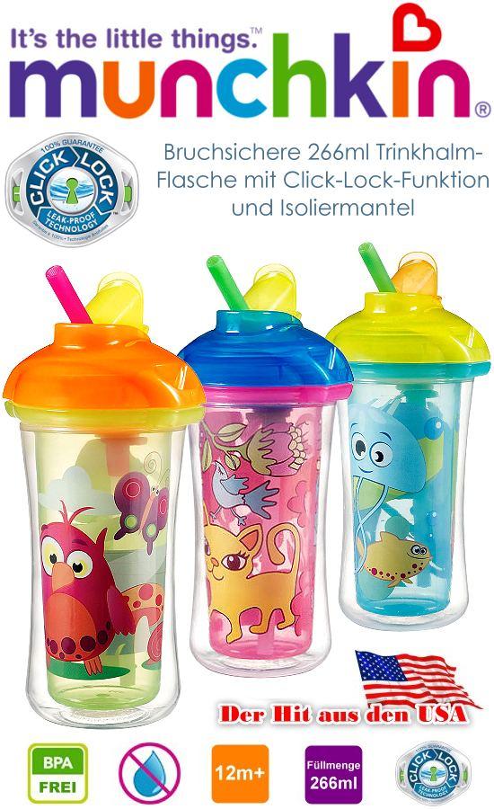 Munchkin Trinkhalm Kinder Flasche