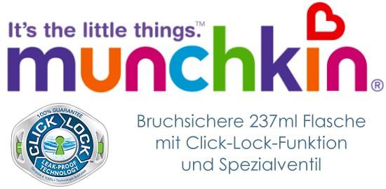 Munchkin ClickLock Trink-Lern-Flasche