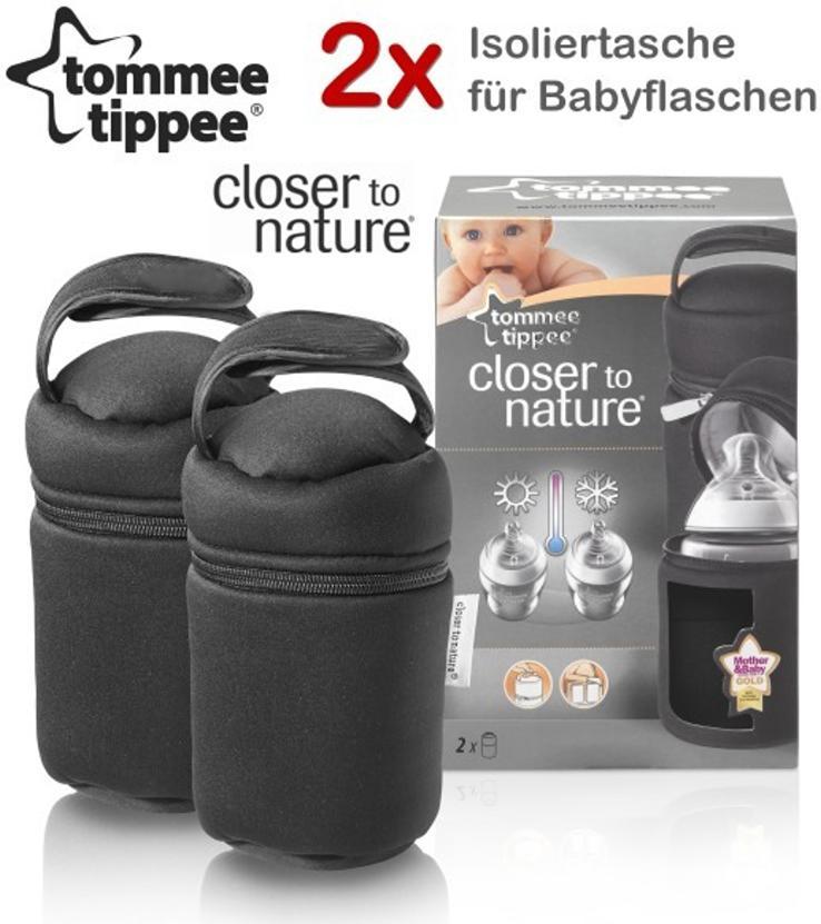 Tommee Tippee Closer To Nature: 2x Isoliertasche für Babyflaschen