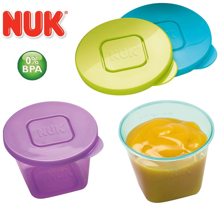 NUK Food Pots 6x Gefrierdosen für Babynahrung