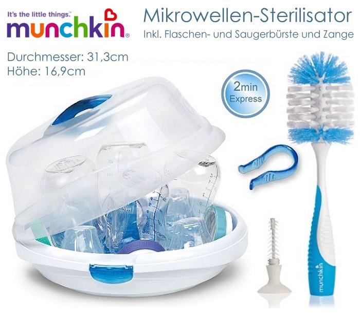 Munchkin 3 x Mikrowellen-Sterilisierungsbeutel