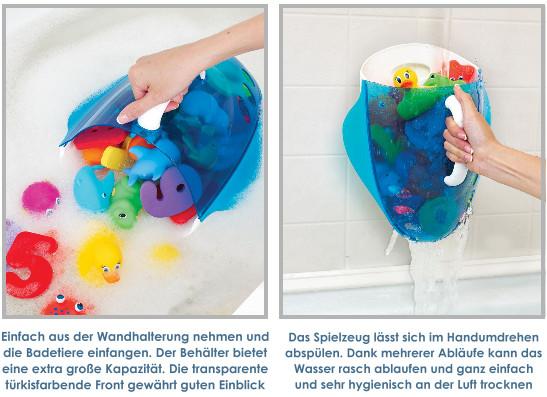 Munchkin: Behälter für Badespielzeug