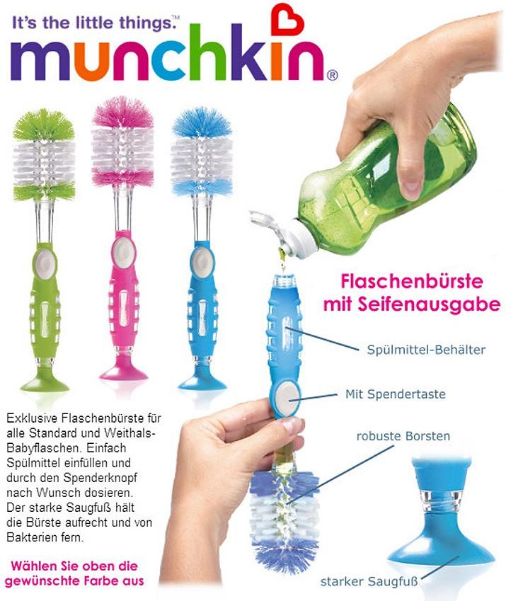 Munchkin: Flaschenbürste mit Seifenausgabe