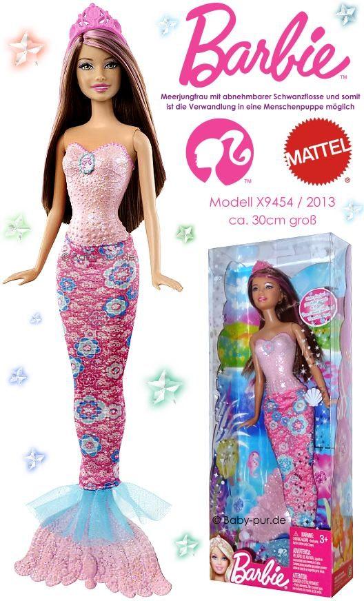 MATTEL: Barbie Puppe (Meerjungfrau rosa X9454)