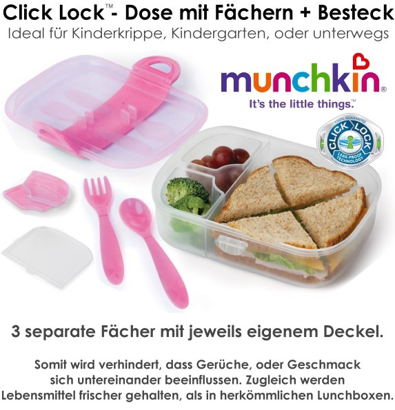 Munchkin, Bento, Brotdose, Lunchbox, Mealtime Set