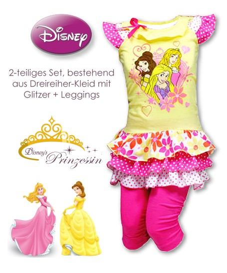 Kinderkleid Dreireiher mit Hose Disney