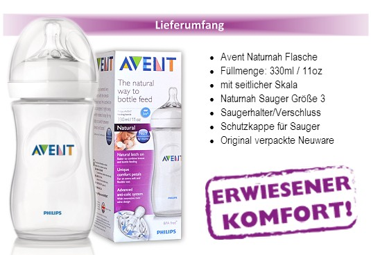 Philips Avent Natural Baby-Flaschen Naturnah