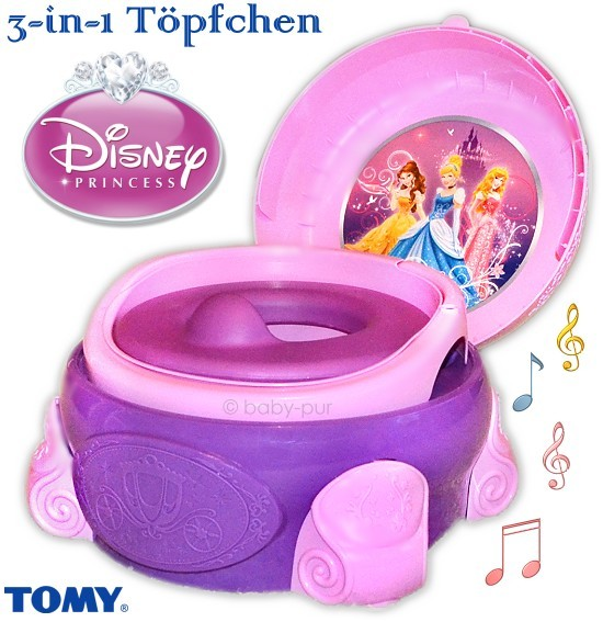 tomy disney 3in1 baby t pfchen wc sitz tritt princess. Black Bedroom Furniture Sets. Home Design Ideas