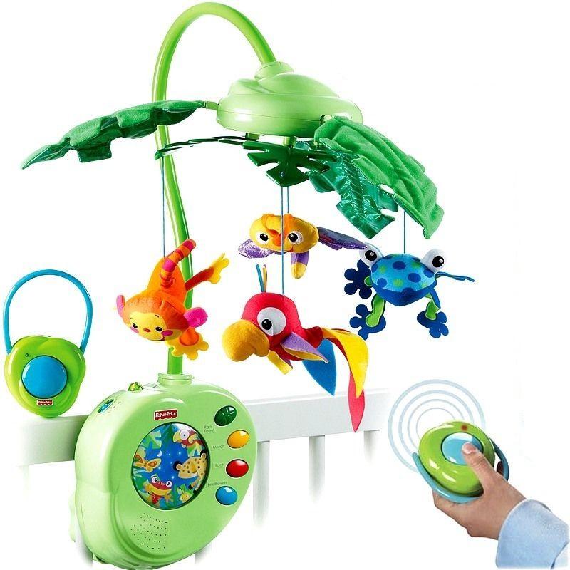 baby mobile fisher price k3799 rainforest traumfreunde mit fernbedienung klassik ebay. Black Bedroom Furniture Sets. Home Design Ideas