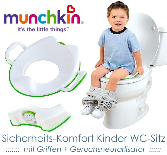 munchkin kinder wc sitz toilettentrainer geruchsneutralisierend. Black Bedroom Furniture Sets. Home Design Ideas