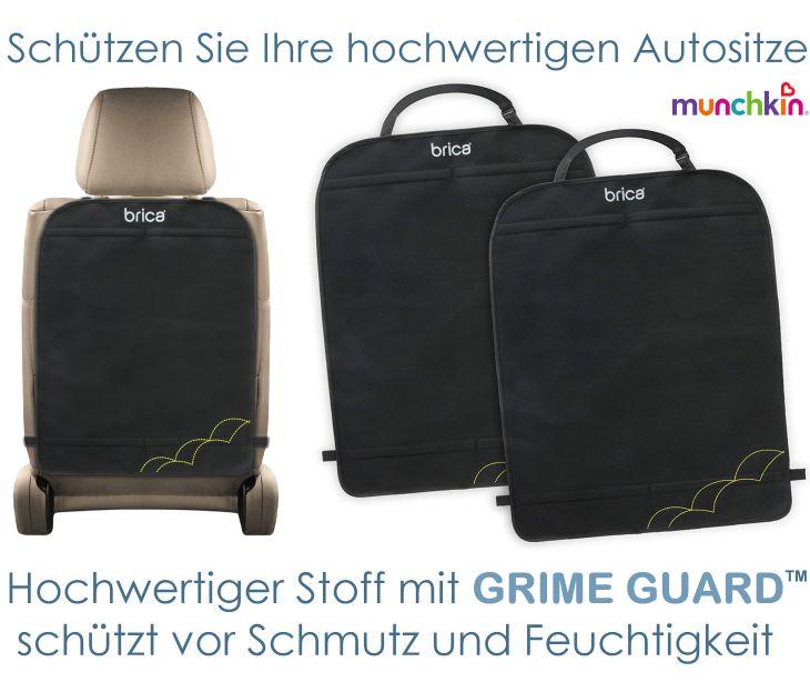 Brica Munchkin Schutzmatte für Autositz mit Grime Guard