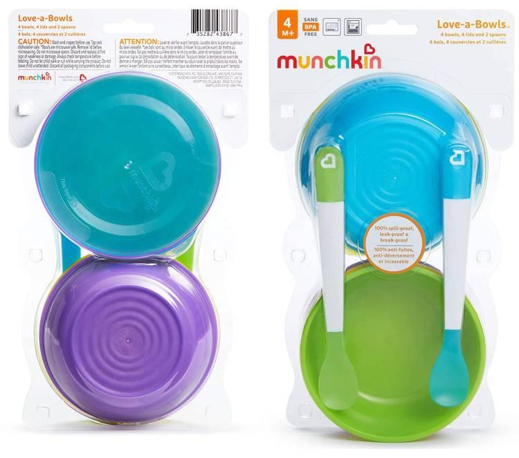 Love a bowls Schüsselset mit Löffel von Munchkin