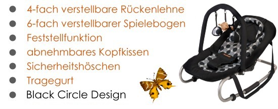 Baninni Baby Relax Butterfly Babyschaukel Wippe