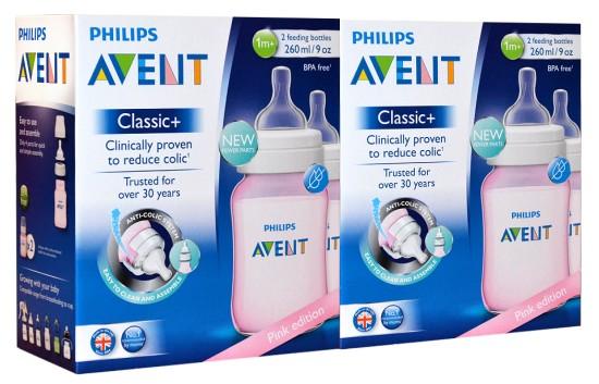 Philips Avent Klassik+ Babyflasche SCF564/27 rosa