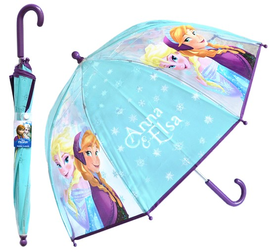 disney kinder regenschirm die eisk nigin frozen anna elsa transparent 70x64cm ebay. Black Bedroom Furniture Sets. Home Design Ideas