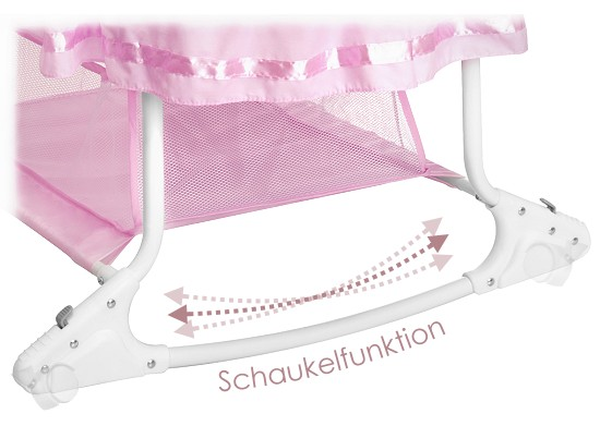 babywiege stubenwagen babyschaukel himmelbett bett rosa m dchen little world neu ebay. Black Bedroom Furniture Sets. Home Design Ideas