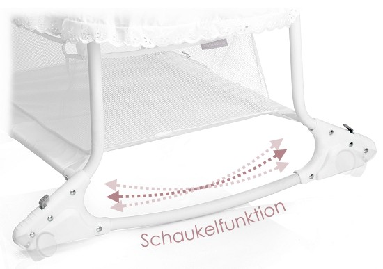 Little world: babywiege stubenwagen babyschaukel weiss