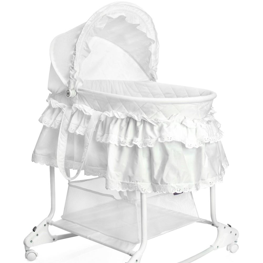 little world babywiege stubenwagen babyschaukel weiss. Black Bedroom Furniture Sets. Home Design Ideas