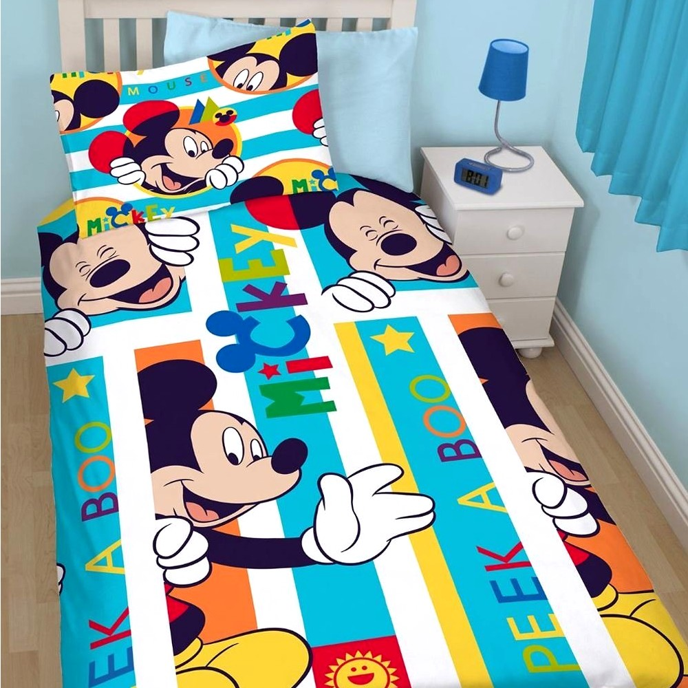 Disney Kinderbettwäsche Mickey Maus Bettbezug Kissenbezug 145