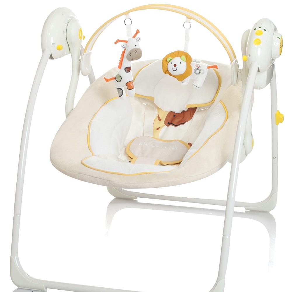 little world dreamday elektrische babyschaukel beige. Black Bedroom Furniture Sets. Home Design Ideas