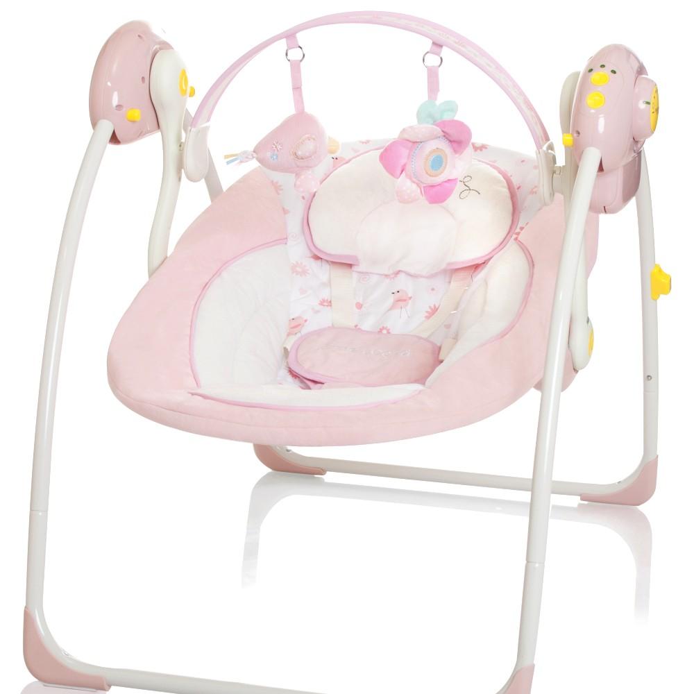 Elektrische Babyschaukel rosa Automatik Baby Schaukel Wiege Liege ...