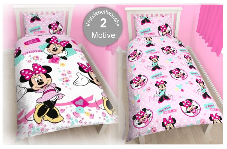Disney Kinderbettwäsche Minnie Maus Handmade Bettbezug Kissenb 537