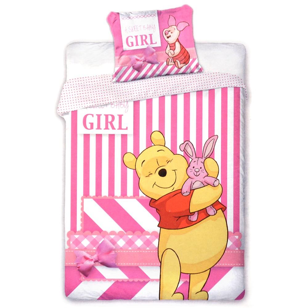 Disney Baby Kinder Bettwäsche Winnie Puuh Bettbezug Kissen 100x135