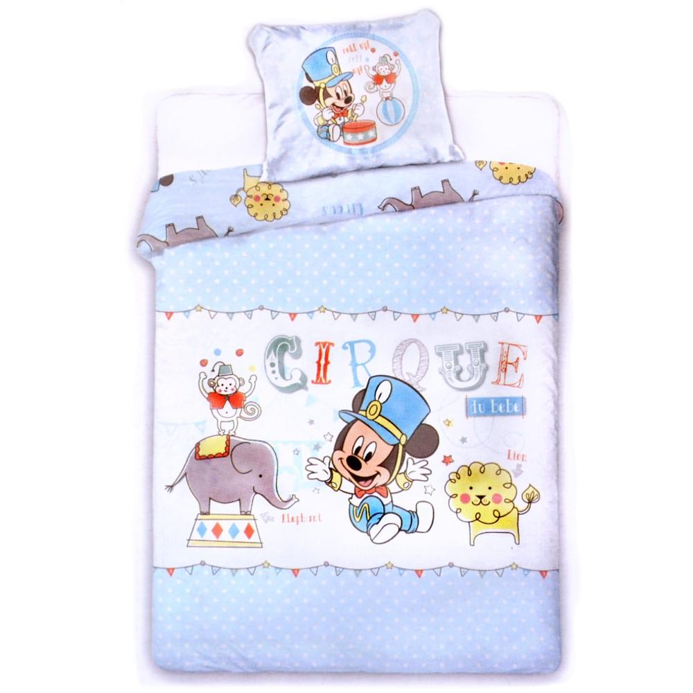 Disney Baby Kinder Bettwäsche Mickey Maus Bettbezug Kissen 100x135