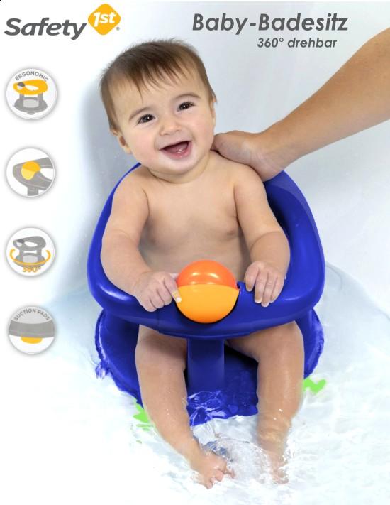 safety first baby badesitz drehbarer kinder badewannensitz dkl blau ergonomisch ebay. Black Bedroom Furniture Sets. Home Design Ideas