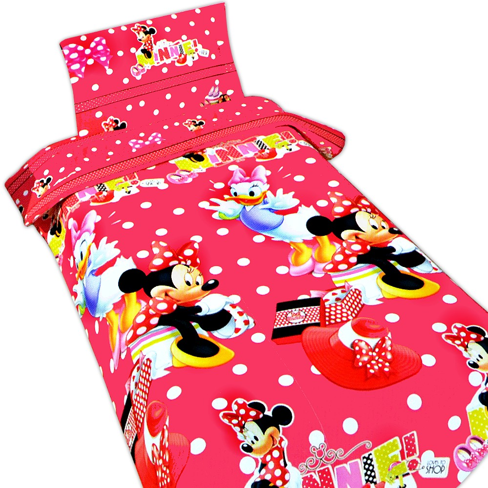 disney kinder bettw sche minnie maus bettbezug 135x200 kissen 80x80 mikrofaser ebay. Black Bedroom Furniture Sets. Home Design Ideas