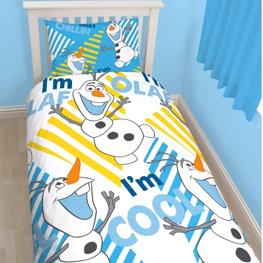 disney kinderbettw sche die eisk nigin bett kissenbezug olaf 773. Black Bedroom Furniture Sets. Home Design Ideas
